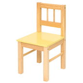 Wooden Chair (Pastel Yellow)