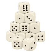 Giant Dice White (Pack of 12)
