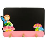 Blackboard with Coat Hooks (Fairy)