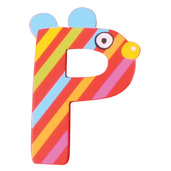 Crazy Animals Letter P (One Supplied - Designs Vary)