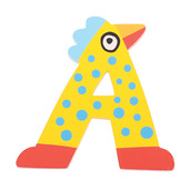 Crazy Bird Letter A (Yellow)