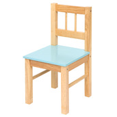 Wooden Chair (Pastel Blue)