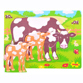 Chunky Puzzle Cow and Calf