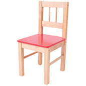 Wooden Chair (Red)