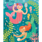 Playful Mermaids 64-Piece Tin Canister Puzzle