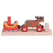 Santa Sleigh with Reindeer
