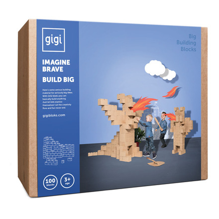 Bloks Giant Interlocking Cardboard Building Blocks (100 Blocks) picture