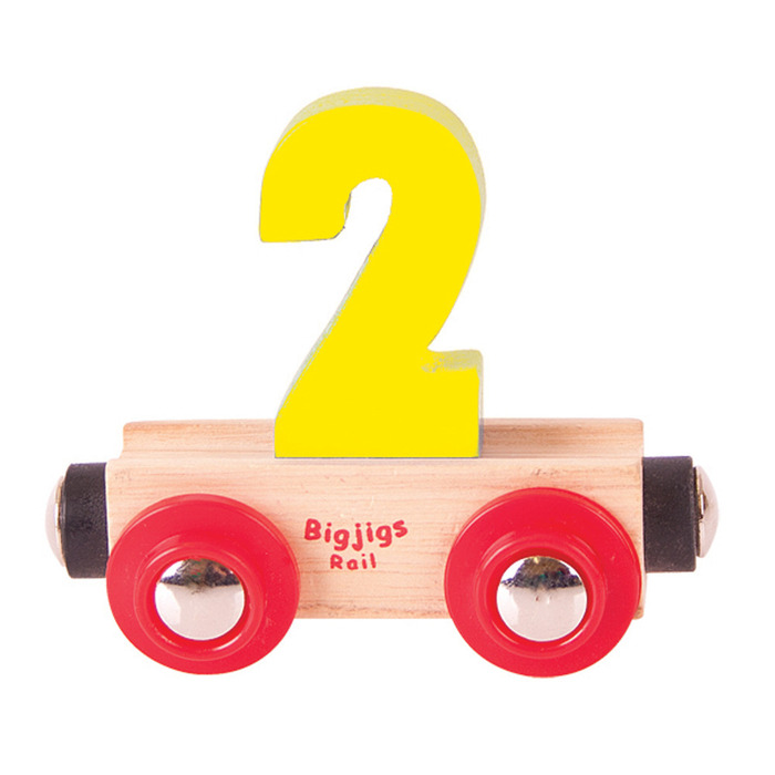 Rail Name Number 2 Yellow Official Bigjigs Toys Wooden Toys