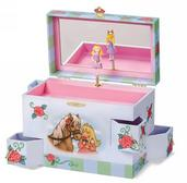 Enchantmints Rose Petal Princess Musical Treasure Box