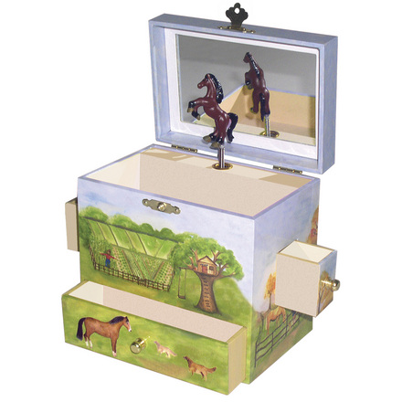 Enchantmints Horse Ranch Musical Treasure Box picture