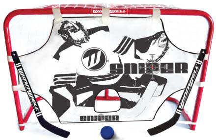 MINI NET SET W/ 2 STICKS, BALL & TARGET picture