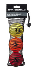STREET HOCKEY BALL 65MM 50G WEATHER 3-PACK (w/ MESH BAG)
