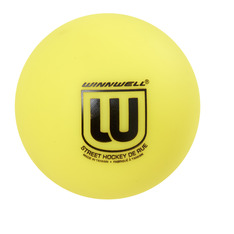 STREET HOCKEY BALL 65MM 50G SOFT YELLOW