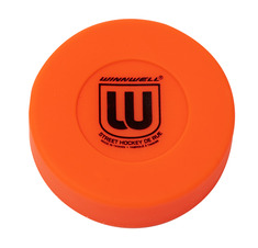 STREET HOCKEY PUCK 75MM 50G MEDIUM ORANGE