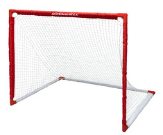 """COLLAPSIBLE PVC HOCKEY NET 54"""" W/ 1.25"""" POSTS & CARRY BAG"""
