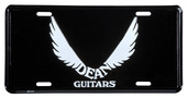 License Plate: Dean Logo on Black