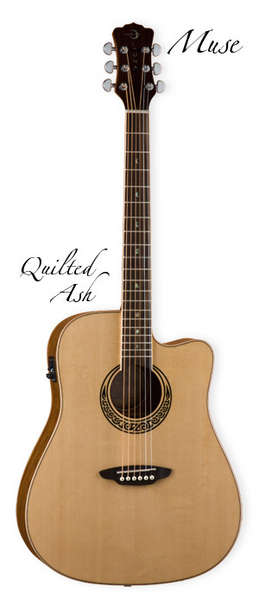 Muse Dreadnought Cutaway Quilt Ash picture