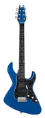 Dean USA Bel Aire II HSS Retro Electric Guitar with Case - Candy Blue