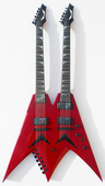 USA Dave Mustaine VMNT Double Neck - Candy Apple Red