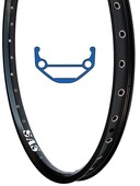 "SAS 24"" Disc Rim – black - 36 hole"