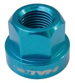 Alloy Axle Nuts - blue - 9mm