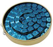 """Gusset Slink Chain 1/8"""" - translucent blue"""