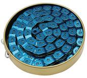 Gusset Slink Chain, 3/32 - translucent blue