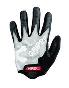 GRIPPP Tour White Full Finger Kangaroo Leather Cycling Gloves (Medium/8)