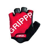 GRIPPP Tour Red Short Finger Kangaroo Leather Cycling Gloves (Medium/8)