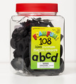 Foam Fun Lowercase Black Magnet Letters, Set of 108