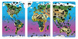 Magnetic Wildlife Map Puzzle Bundle, Set of 3 additional picture 1