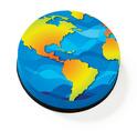 Magnetic Whiteboard Eraser: Earth