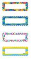 Magnetic Name Plates: Circles & Ribbons, Set of 16
