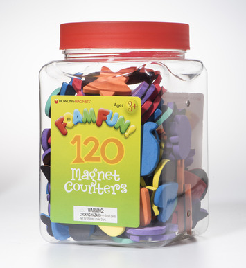 Foam Fun Magnet Counters, Set of 120 picture