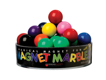 Solid-Colored Magnet Marbles, Set of 20 picture