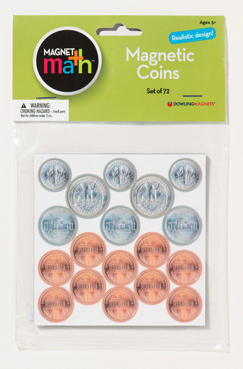 Magnetic Coins, Set of 72 picture