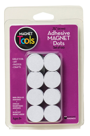 Adhesive Magnet Dots, Set of 100 picture