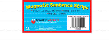 Large Magnetic Sentence Strips, Set of 10 picture