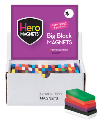 Hero Magnets: Big Block Magnets, Set of 40 picture