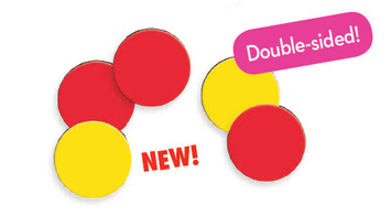 Magnetic Two-Color Counters (double-sided), Set of 200 picture