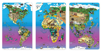 Magnetic Wildlife Map Puzzle Bundle, Set of 3 picture