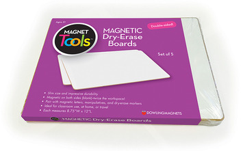 Magnetic Dry-Erase Boards (double-sided blank), Set of 5 picture