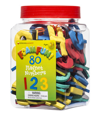Foam Fun Magnet Numbers, Set of 80 picture