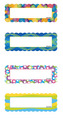 Magnetic Name Plates: Circles & Ribbons, Set of 16