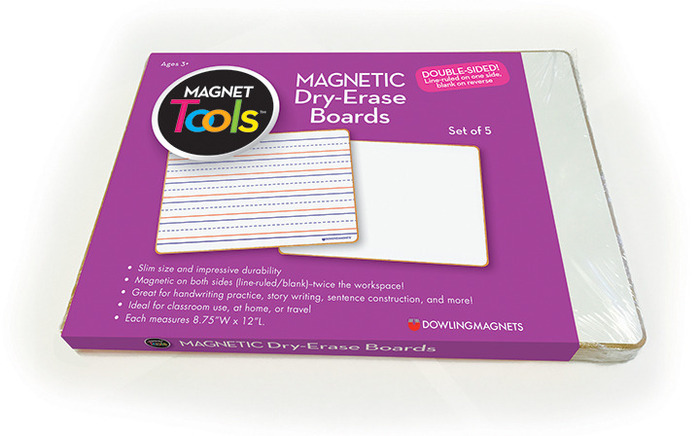 Magnetic Dry Erase Boards Double Sided Ruled Blank Set