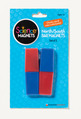 "North/South Bar Magnets (3""), Red/Blue Poles, Set of 2"