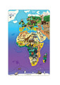 Magnetic Wildlife Map Puzzle: Eurasia & Africa