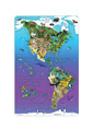Magnetic Wildlife Map Puzzle: North & South America
