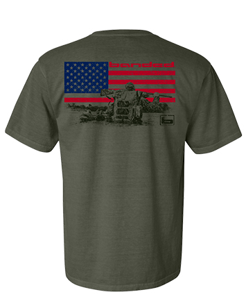 Large - Green - Banded American S/S Tee picture