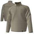 2XL  - Khaki - Nubby Fleece Henley